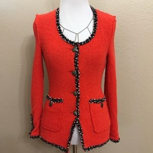 Zara Red tweed blazer
